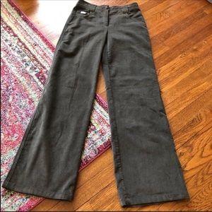 Armani collezioni gray corduroy wide leg pants